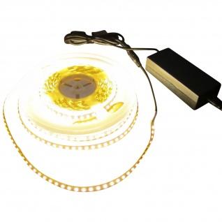 SET 2550 Lumen 5m Led Streifen 600 LED warmweiß wasserfest IP65 inkl. Netzteil 24V Pro Serie TÜV/GS geprüft - Vorschau 1