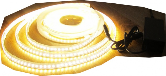 2550 Lumen 5m Led Streifen 600 LED warmwei/ß wasserfest IP65 24Volt ohne Netzteil von AS-S