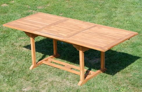 TEAK XXL Ausziehtisch 150/210x90 cm Holztisch Gartentisch Garten Tisch 150 / 210 Länge 90cm Breite Holz Modell: JAV-SABA von AS-S - Vorschau 3