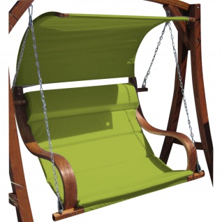 Design Sitzbank für Hollywoodschaukel SEAT MERU GRÜN aus Holz Lärche inkl. Dach (ohne Gestell!!)