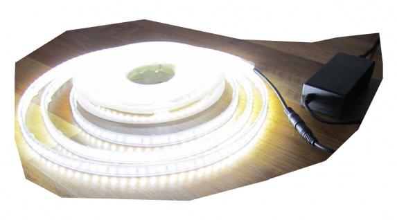 SET 2700 Lumen 5m Led Streifen 600 LED neutralweiß wasserfest IP65 inkl. Netzteil 24V (Pro-Serie) TÜV/GS geprüft von AS-S