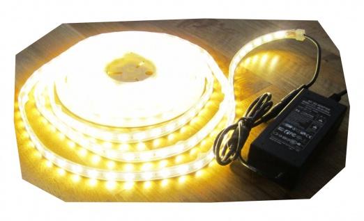 SET 1250 Lumen 5m Led Streifen 300LED warmweiß warm weiß wasserfest IP65 inkl. Netzteil 24V Pro-Serie TÜV/GS geprüft von AS-S