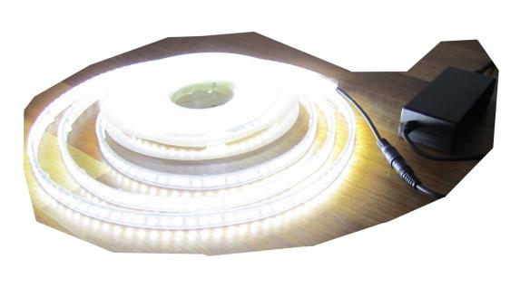 SET 2500 Lumen 10m Led Streifen 600 LED neutralweiß wasserfest IP65 inkl. Netzteil 24V Pro-Serie TÜV/GS geprüft STRIP STRIPE LEISTE natur weiss weiß von AS-S