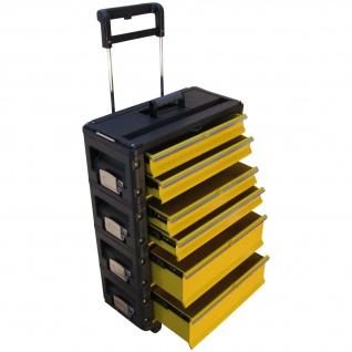 Metall Werkzeugtrolley XXL Serie 305 mit Schubladenverriegelung und Schloss von AS-S