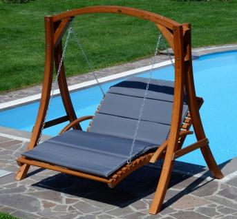 AS-S Design Hollywoodliege Hollywoodschaukel MACAO-OD aus Holz Lärche ohne Dach von - Vorschau 4
