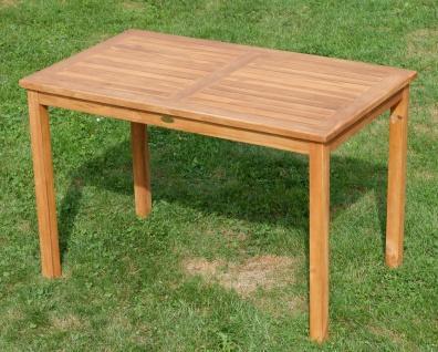 AS-S Teak Set Gartengarnitur Gartentisch 120x70 cm mit 4 Sessel Holz Serie JAV-ALPEN - Vorschau 4