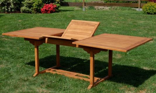 TEAK XXL Ausziehtisch Holztisch Gartentisch Garten Tisch L: 180/240cm B: 100cm Gartenmöbel Holz sehr robust Modell: JAV-TOBAGO240 von AS-S - Vorschau 2