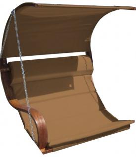Ersatz Stoffpolster und Dachstoff für Hollywoodschaukel SEAT-MERU braun (NUR SESSELSTOFF ohne Holzteile) von AS-S