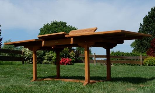 TEAK XXL Ausziehtisch Holztisch Gartentisch Garten Tisch L: 180/240cm B: 100cm Gartenmöbel Holz sehr robust Modell: JAV-TOBAGO240 von AS-S - Vorschau 4