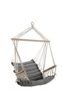 DESIGN Hängesessel Stoffsessel Schwebesessel Hängekorb MALY mit extrem gemütlichem 6cm dicken Sitzkissen und Armlehnen ohne Hängesesselgestell