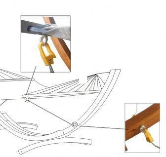 Sicherung für alle unsere Hängemattengestelle mit 4 Meter und mehr von AS-S