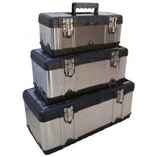 SET 3Stück Werkzeugkisten Materialbox EDELSTAHL von AS-S