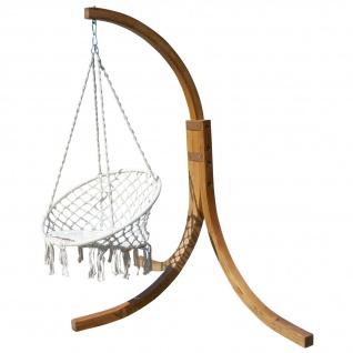 DESIGN Hängesessel NAV-CRUZ mit Gestell aus Holz Lärche komplett mit Hängesessel von AS-S