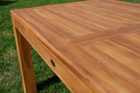 AS-S Wuchtiger Echt Teak Bigfuss Gartentisch 180x90 Holztisch Teaktisch Garten Tisch Holz - Vorschau 4