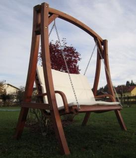 AS-S Design Hollywoodschaukel Gartenschaukel Schaukel Holzschaukel Hollywood Swing aus Holz Lärche Modell KUREDO103OD - Vorschau 3