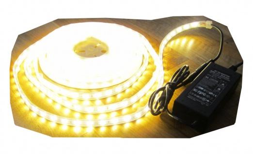 SET 2550 Lumen 5m Led Streifen 600 LED warmweiß wasserfest IP65 inkl. Netzteil 24V Pro Serie TÜV/GS geprüft von AS-S