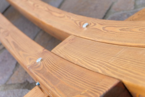 415cm XXL Luxus Hängemattengestell PANAMA-XXL aus Holz Lärche coffee-braun mit beiger Stab Hängematte - Vorschau 4