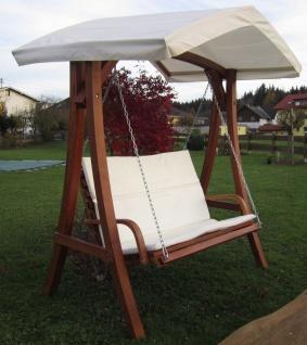 AS-S Design Hollywoodschaukel Gartenschaukel Schaukelbank KUREDO mit Dach aus Holz Lärche - Vorschau 2