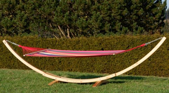 410cm XXL Hängemattengestell NATUR-NEGRIL aus Holz Lärche mit Stab Hängematte - Vorschau 2