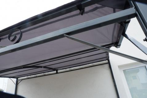 Wand Anbau Pavillon 3 x 2, 5 Meter mit Dach 100% wasserdicht UV30+ Model: TOPEA anthrazit - Vorschau 4