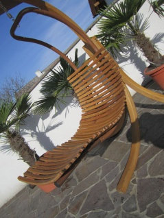 AS-S DESIGN Hängeliege Schwebeliege Schaukelliege NAVASSA-SEAT-GRÜN aus Holz Lärche / Metall mit Auflage (OHNE Gestell) - Vorschau 5