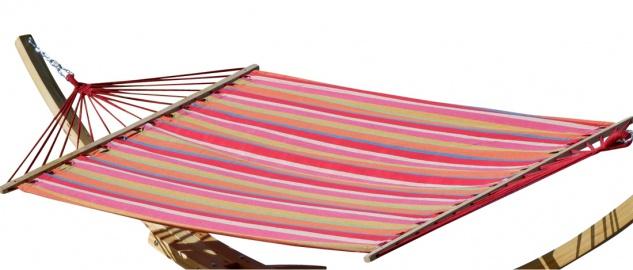 AS-S Hängematte 150x200cm gestreift aus Baumwolle Modell: ALICIA