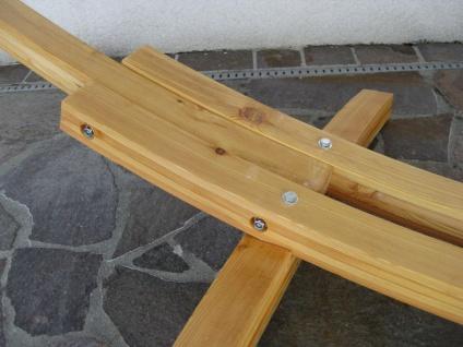 410cm XXL Hängemattengestell NATUR aus Holz Lärche mit Stab Hängematte von AS-S - Vorschau 4
