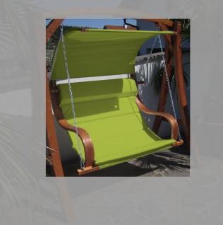 Design Sitzbank für Hollywoodschaukel SEAT MERU GRÜN aus Holz Lärche inkl. Dach (ohne Gestell!!) von AS-S - Vorschau 2