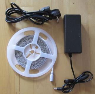 SET 12200 Lumen 5m X-Ultra-Highpower LED Streifen mit 600 2835 LED's warmweiß weiss superhell inkl. Netzteil 24V Pro-Serie TÜV/GS geprüft - Vorschau 4