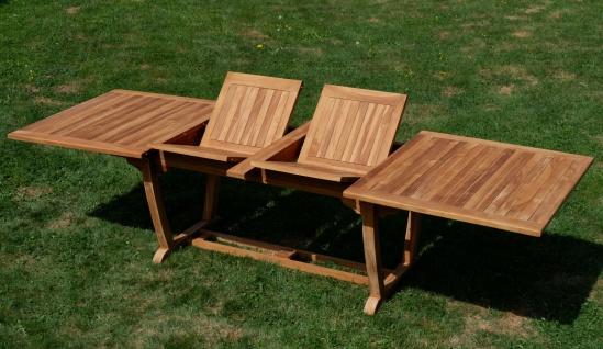 ECHT TEAK XXL Ausziehtisch Holztisch Gartentisch Garten Tisch 200-250-300cm 2fach ausziehbar, Breite 100cm Gartenmöbel Holz sehr robust JAV-TOBAGO-300x100 von AS-S - Vorschau 5