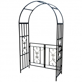 eleganter rosenbogen rankhilfe mit t r aus metall schwarz mod 5044 g kaufen bei as handelsgmbh. Black Bedroom Furniture Sets. Home Design Ideas