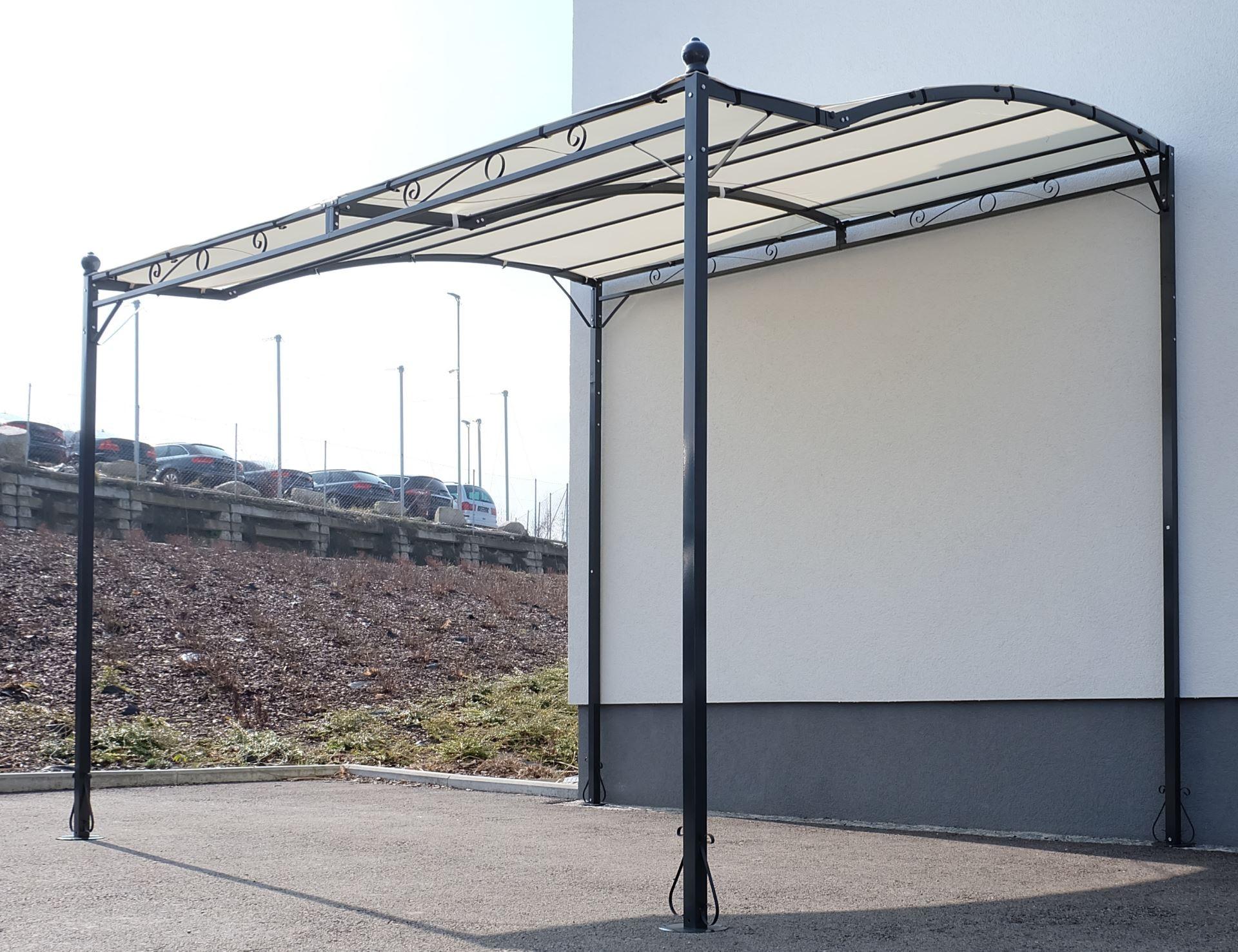wand anbau pavillon 3 x 2 5 meter mit dach 100 wasserdicht uv30 model topea kaufen bei as