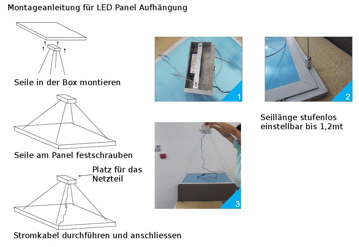led panel aufh ngung f r 30x30 u 60x30 nicht rgb panele. Black Bedroom Furniture Sets. Home Design Ideas
