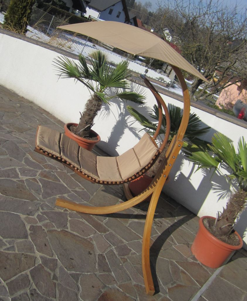 design h ngeliege navassa mit gestell aus holz l rche komplett mit h ngeliege und dach kaufen. Black Bedroom Furniture Sets. Home Design Ideas