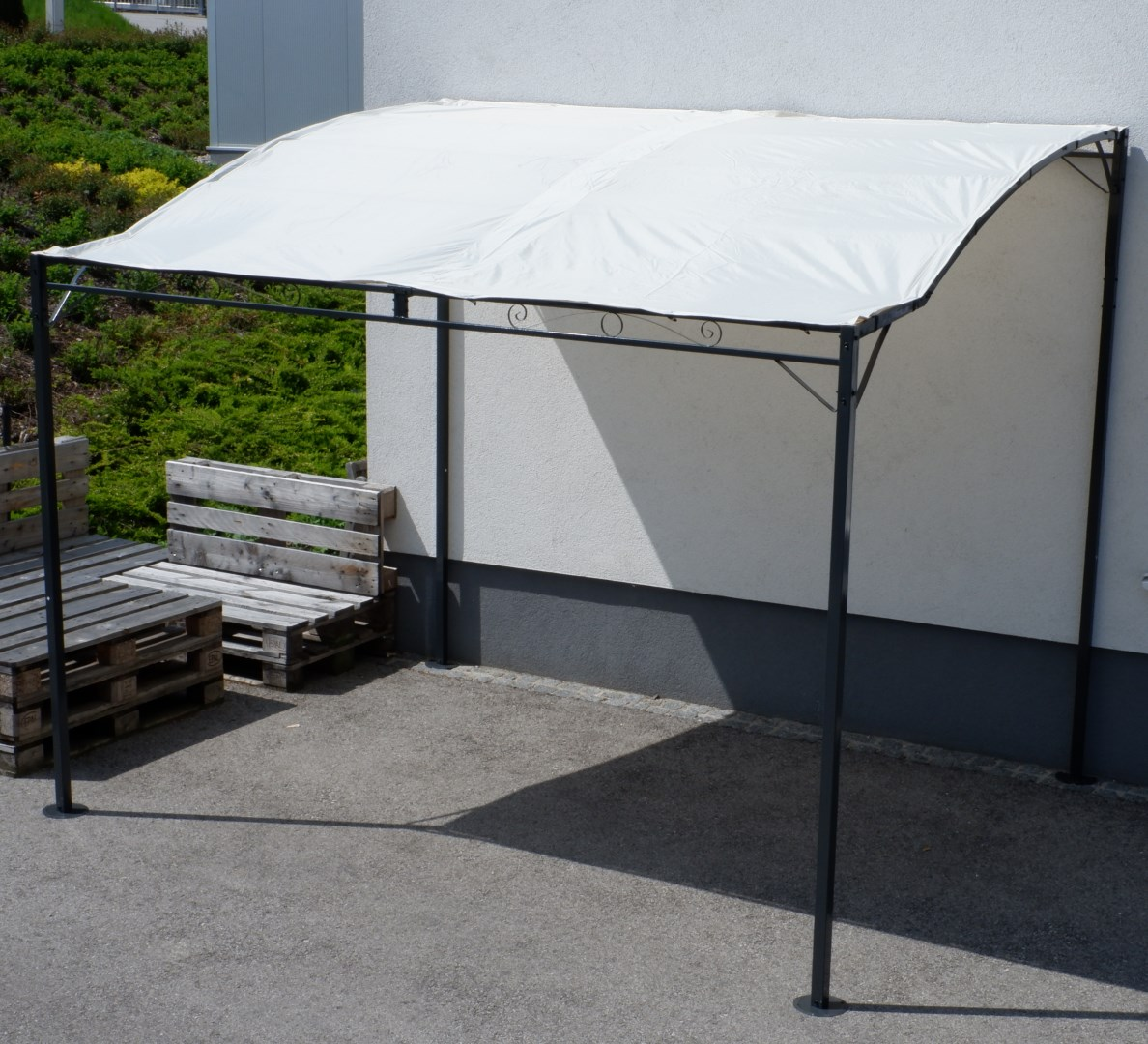 wand anbau pavillon 3 x 2 5 meter mit dach 100 wasserdicht uv30 model tropea kaufen bei as