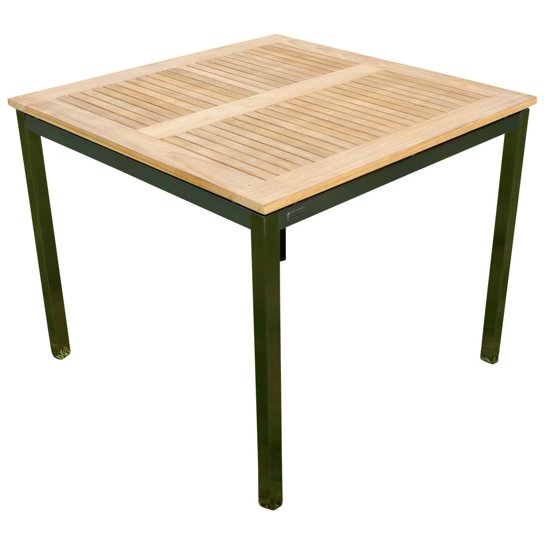 Edelstahl Teak Gartentisch 90x90 Cm Holztisch Esstisch Tisch Massive