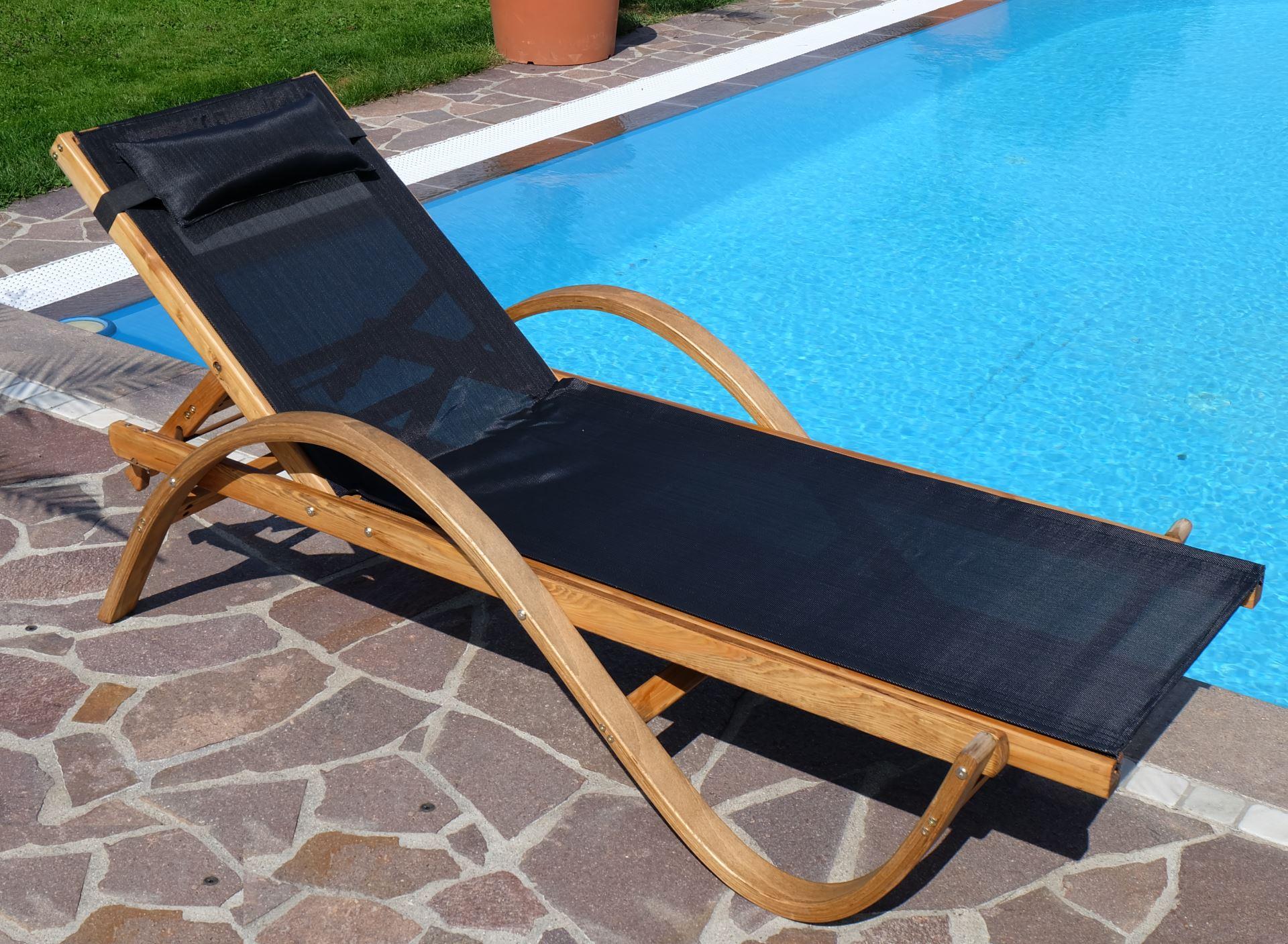 Sonnenliege PARAISO aus Holz Lärche mit Kopfpolster - Kaufen bei AS ...