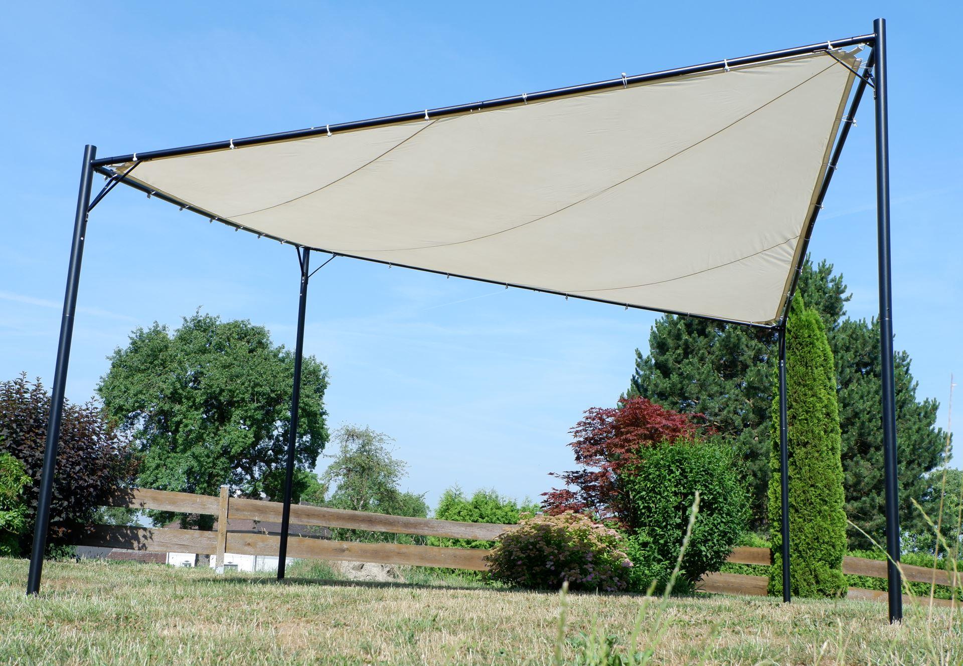 Eleganter Gartenpavillon Schmetterling Butterfly Pavillon Sonnensegel Sonnensegel Sonnensegel 4x4 Meter 16m² Dach, UV30+ Modell  PAROS e5f508