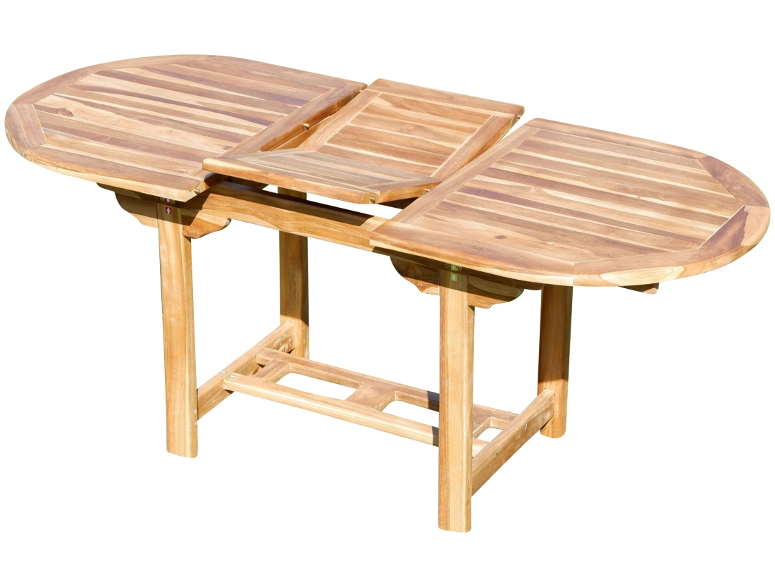 Echt Teak Ausziehtisch 140 180 X 80 Cm Holztisch Gartentisch Tisch