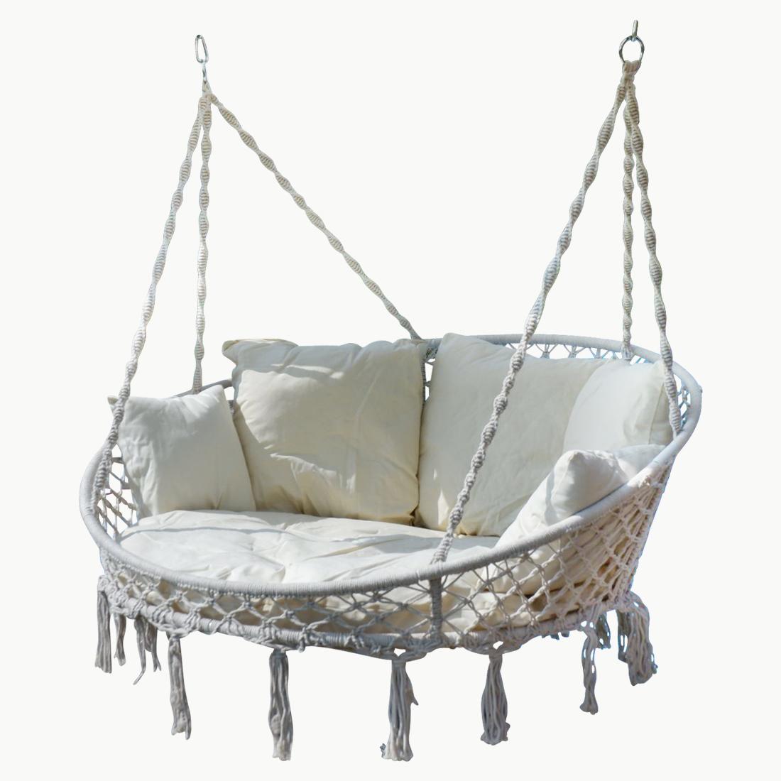 h ngesessel h ngelounger doppellounger lounge f r 2 personen maui mit vielen kissen klappbar. Black Bedroom Furniture Sets. Home Design Ideas