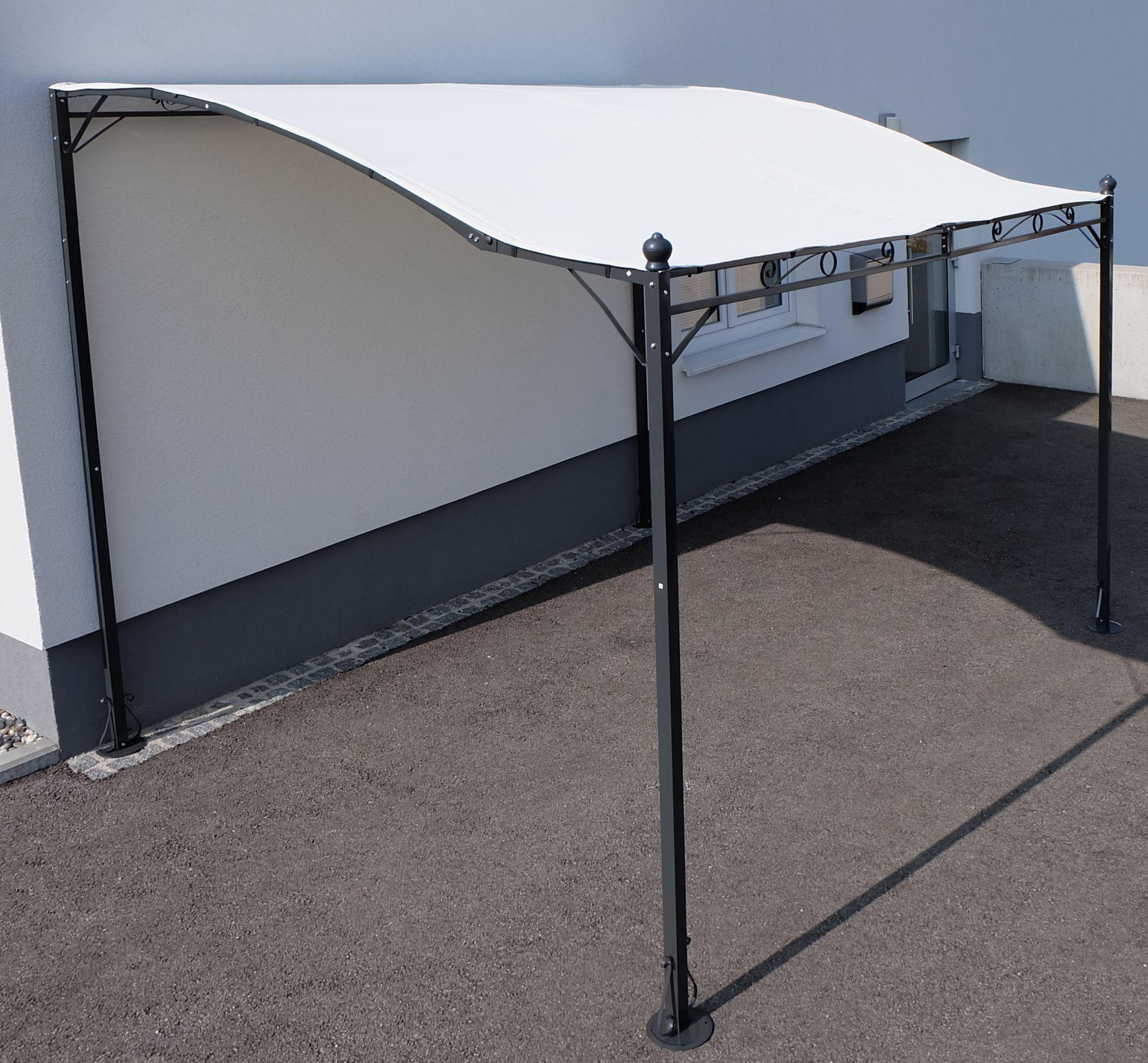 wand anbau pavillon 3 x 2 5 meter mit dach 100 wasserdicht uv30 model topea kaufen bei as. Black Bedroom Furniture Sets. Home Design Ideas