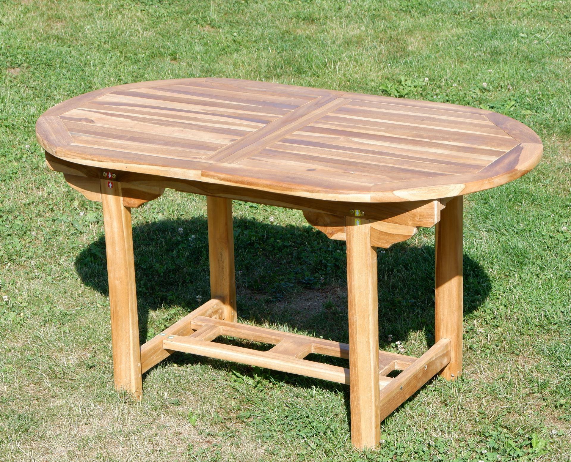 ... Echt TEAK Ausziehtisch 140 180 X 80 Cm Holztisch Gartentisch Tisch  Ausziehbar Holz Mod. ...