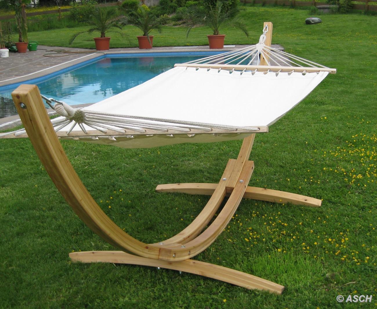 320cm h ngemattengestell blanca aus holz l rche mit stab h ngematte kaufen bei as handelsgmbh. Black Bedroom Furniture Sets. Home Design Ideas