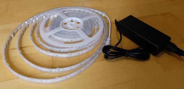 SET 6200 Lumen 5m Ultra-Highpower LED Streifen mit 300 2835 LED's neutralweiß natur weiss naturweiß superhell wasserfest IP65 inkl. Netzteil 24V Pro-Serie TÜV/GS geprüft - Vorschau 3