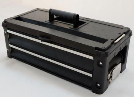 Erweiterungsbox Werkzeugkiste mit 2 Laden für unsere schwarzen Trolleys - Vorschau 2