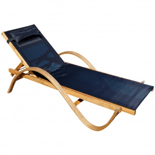 Sonnenliege PARAISO aus Holz Lärche mit Kopfpolster