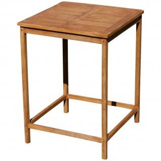 AS-S echt TEAK Bartisch Bistrotisch Stehtisch 80x80cm Holztisch Gartentisch Garten Tisch Holz BIMA-80x80