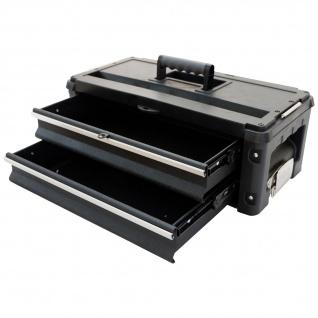 Erweiterungsbox Werkzeugkiste mit 2 Laden für unsere schwarzen Trolleys - Vorschau 1