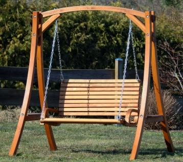 AS-S Design Hollywoodschaukel Gartenschaukel Hollywood Schaukel KUREDO-OD aus Holz Lärche - Vorschau 2