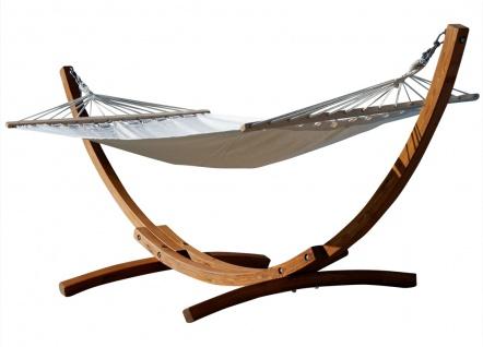 AS-S 320cm Hängemattengestell ARADOS Hängematte mit Gestell aus Holz Lärche mit Stabhängematte